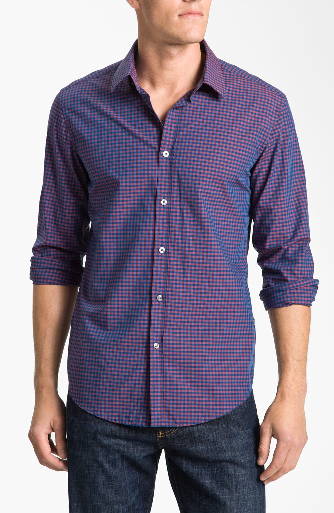 Main Image - BOSS Black 'Ronny' Slim Fit Sport Shirt