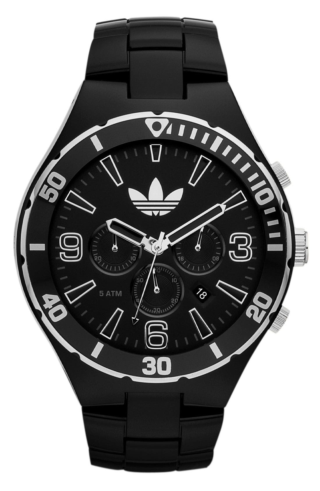 Main Image - adidas Originals 'Melbourne' Large Chronograph Bracelet Watch, 50mm