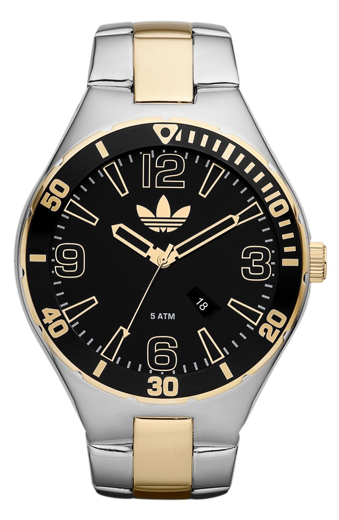Alternate Image 1 Selected - adidas Originals 'Melbourne' Round Dial Bracelet Watch