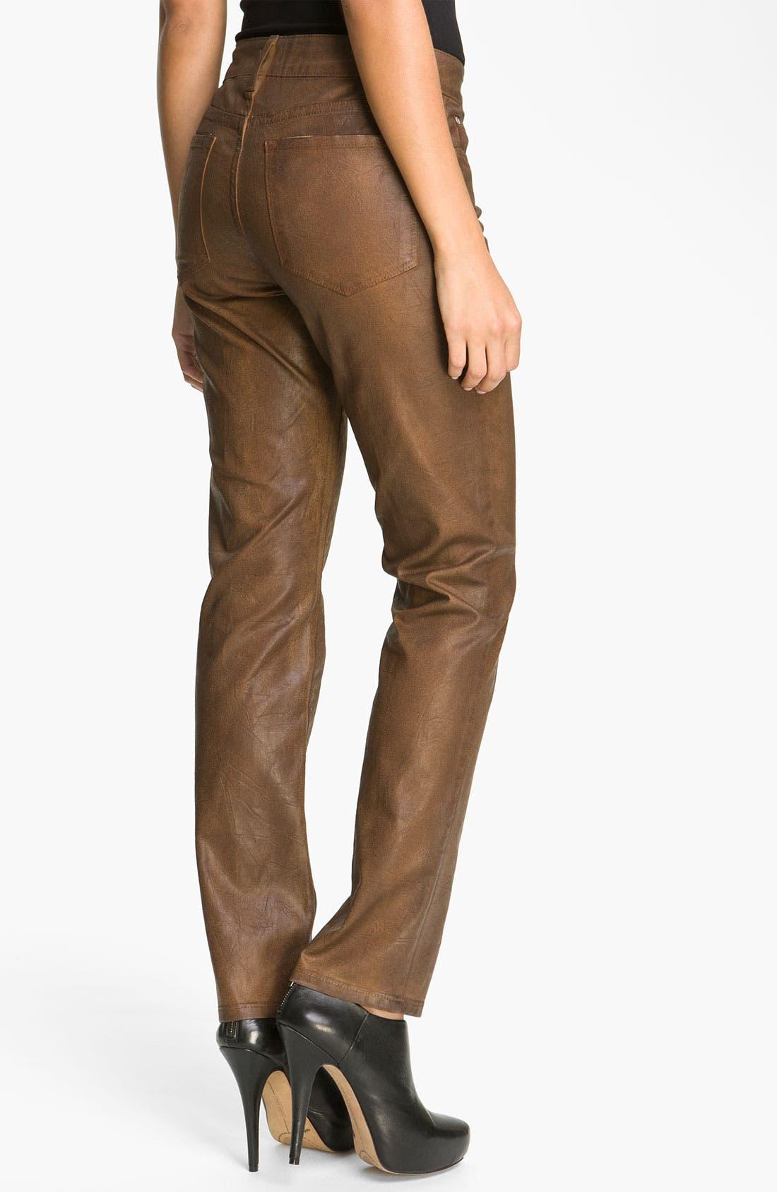 Alternate Image 2  - NYDJ 'Sheri' Coated Skinny Jeans