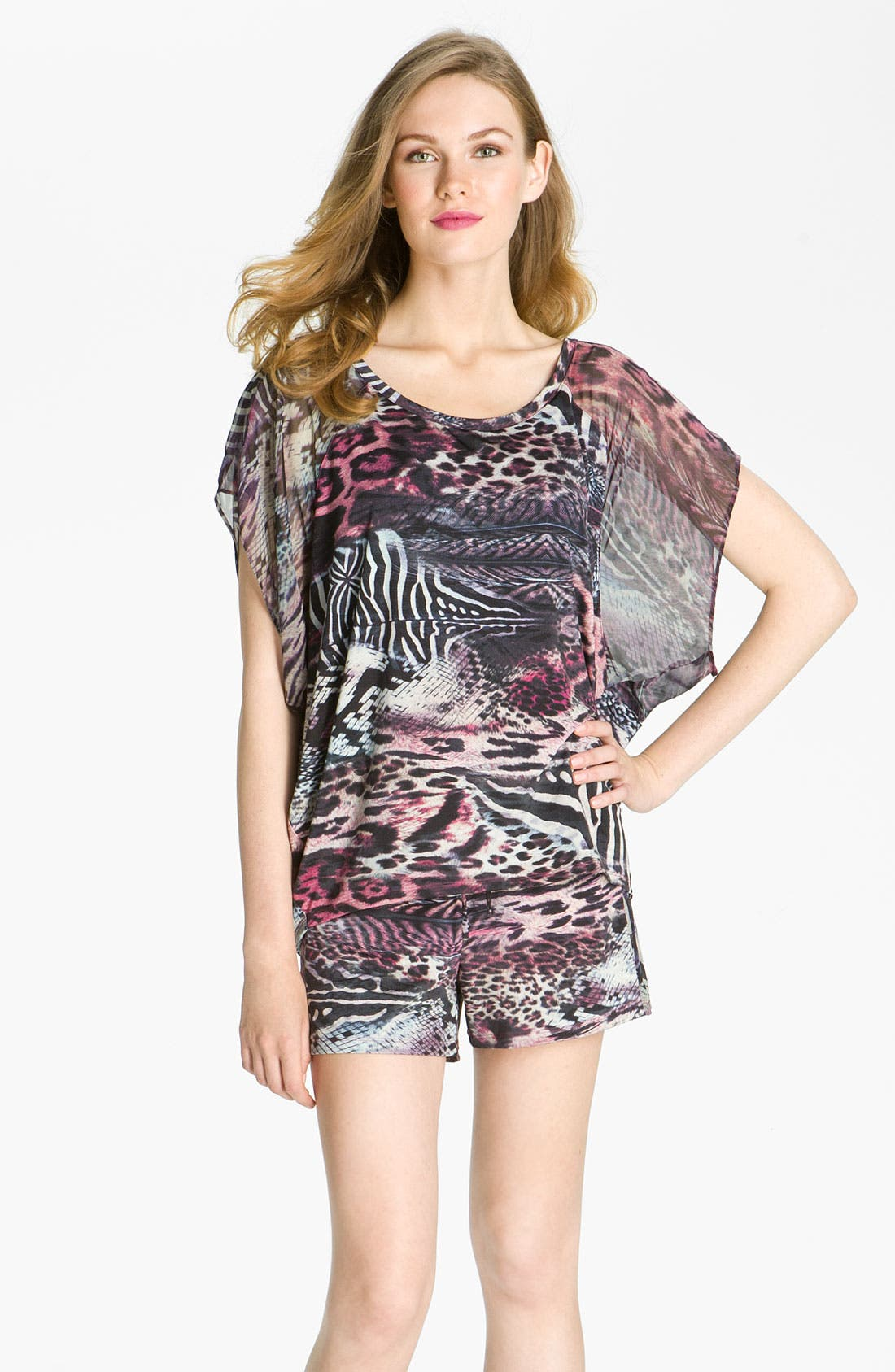 Alternate Image 1 Selected - Nicole Miller 'Wild Animal' Lounge Tee