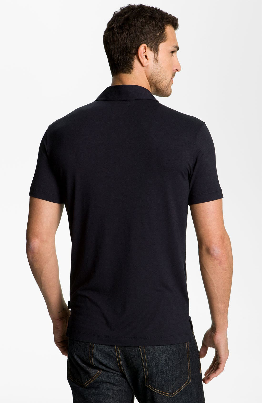 Alternate Image 2  - Armani Collezioni Trim Fit Polo