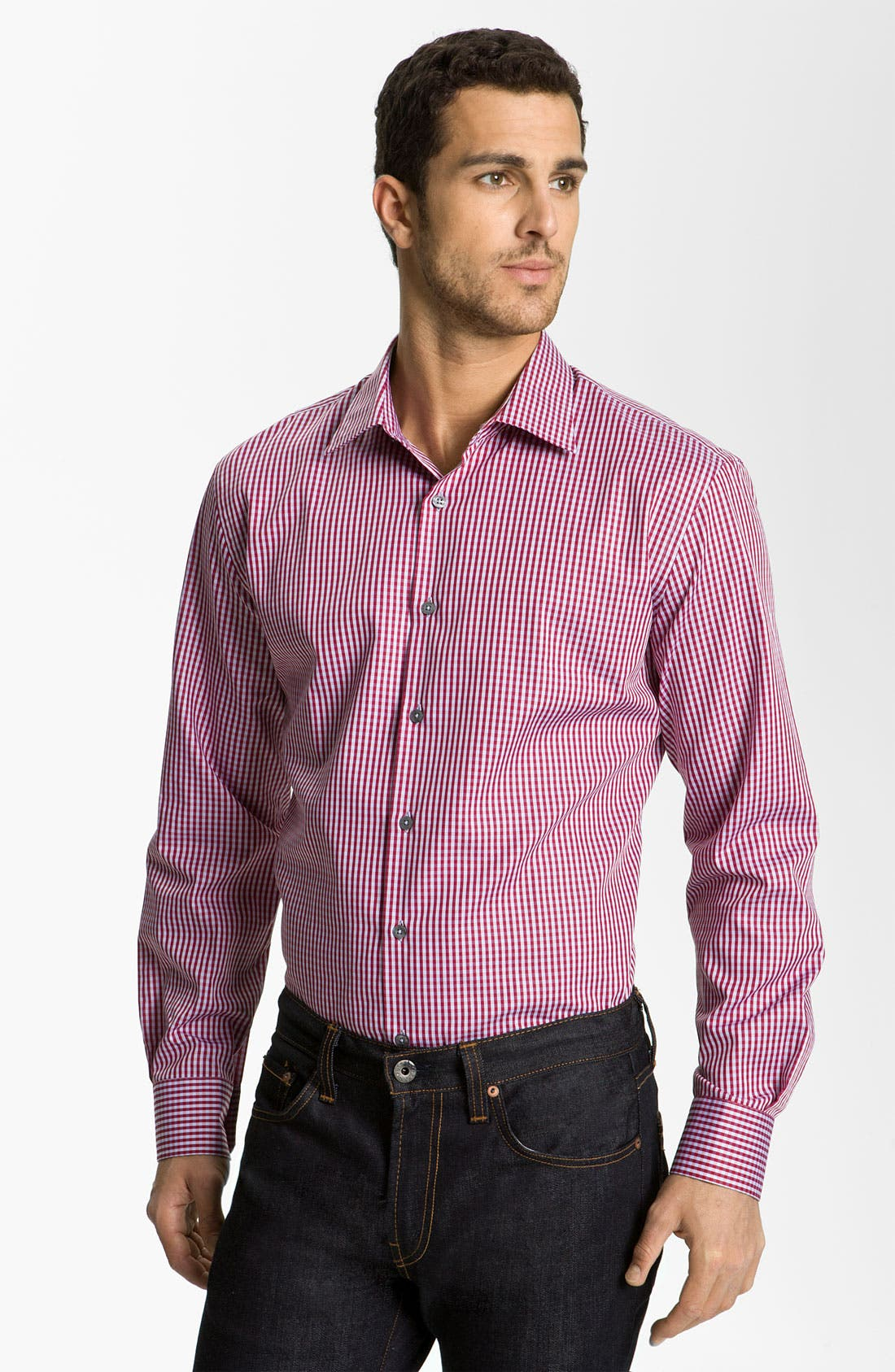 Alternate Image 1 Selected - Paul Smith London Gingham Dress Shirt