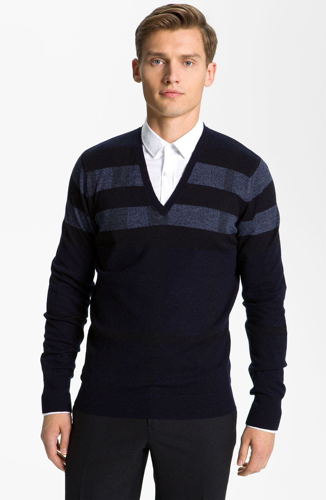 Alternate Image 1 Selected - Burberry London Wool Blend Sweater
