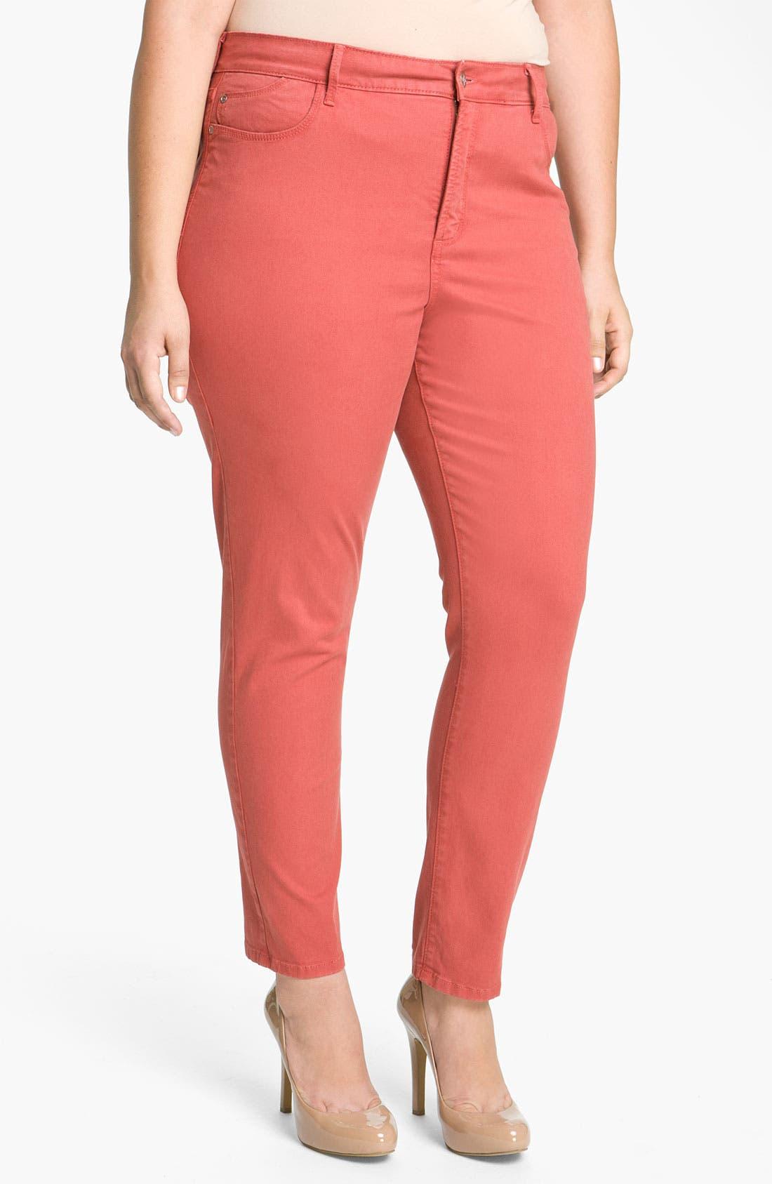 Alternate Image 1 Selected - NYDJ 'Alisha' Skinny Ankle Jeans (Plus)