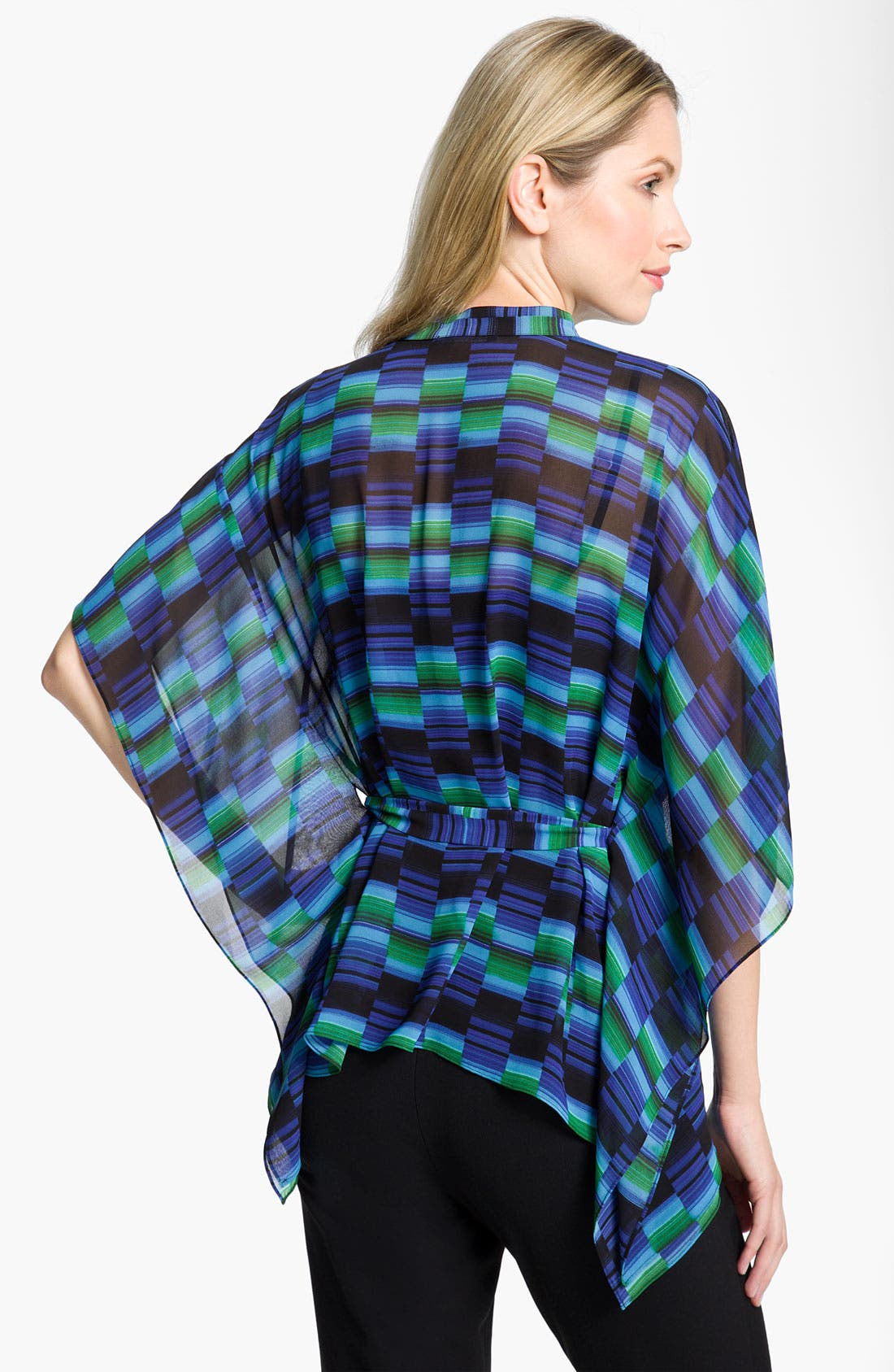Alternate Image 2  - Chaus Belted Geometric Print Poncho Blouse