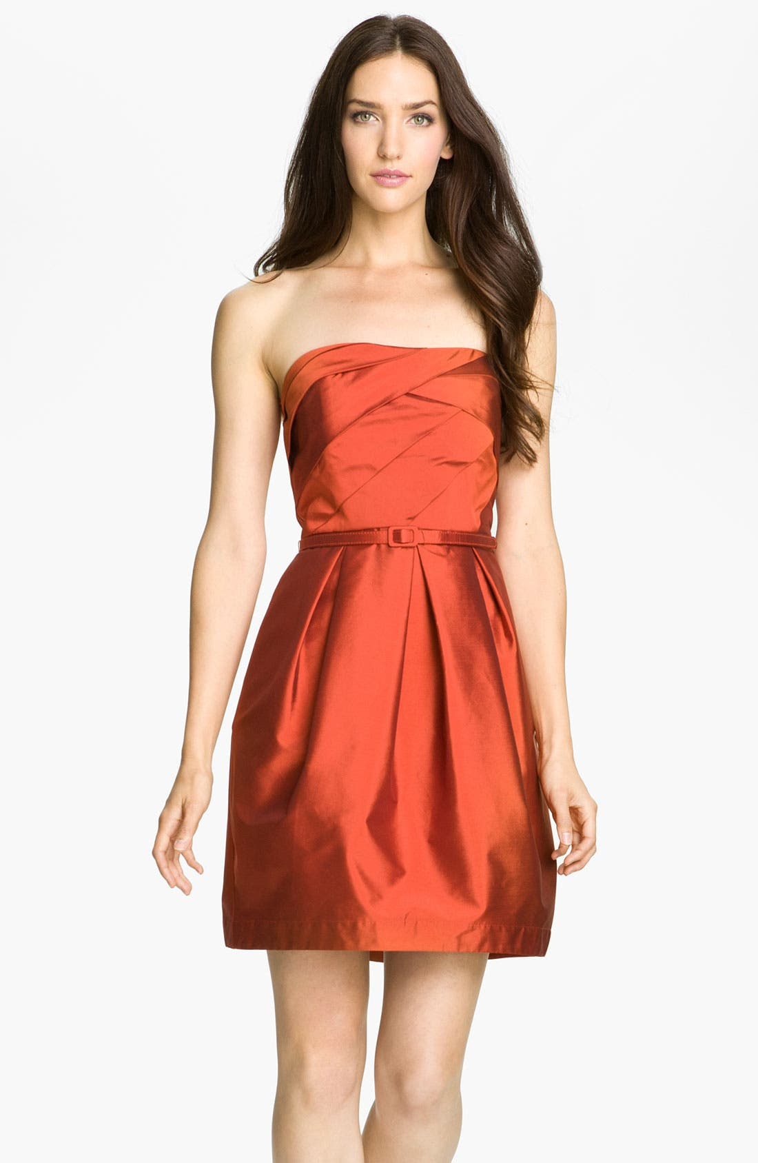 Alternate Image 1 Selected - Eliza J Strapless Tulip Skirt Taffeta Dress