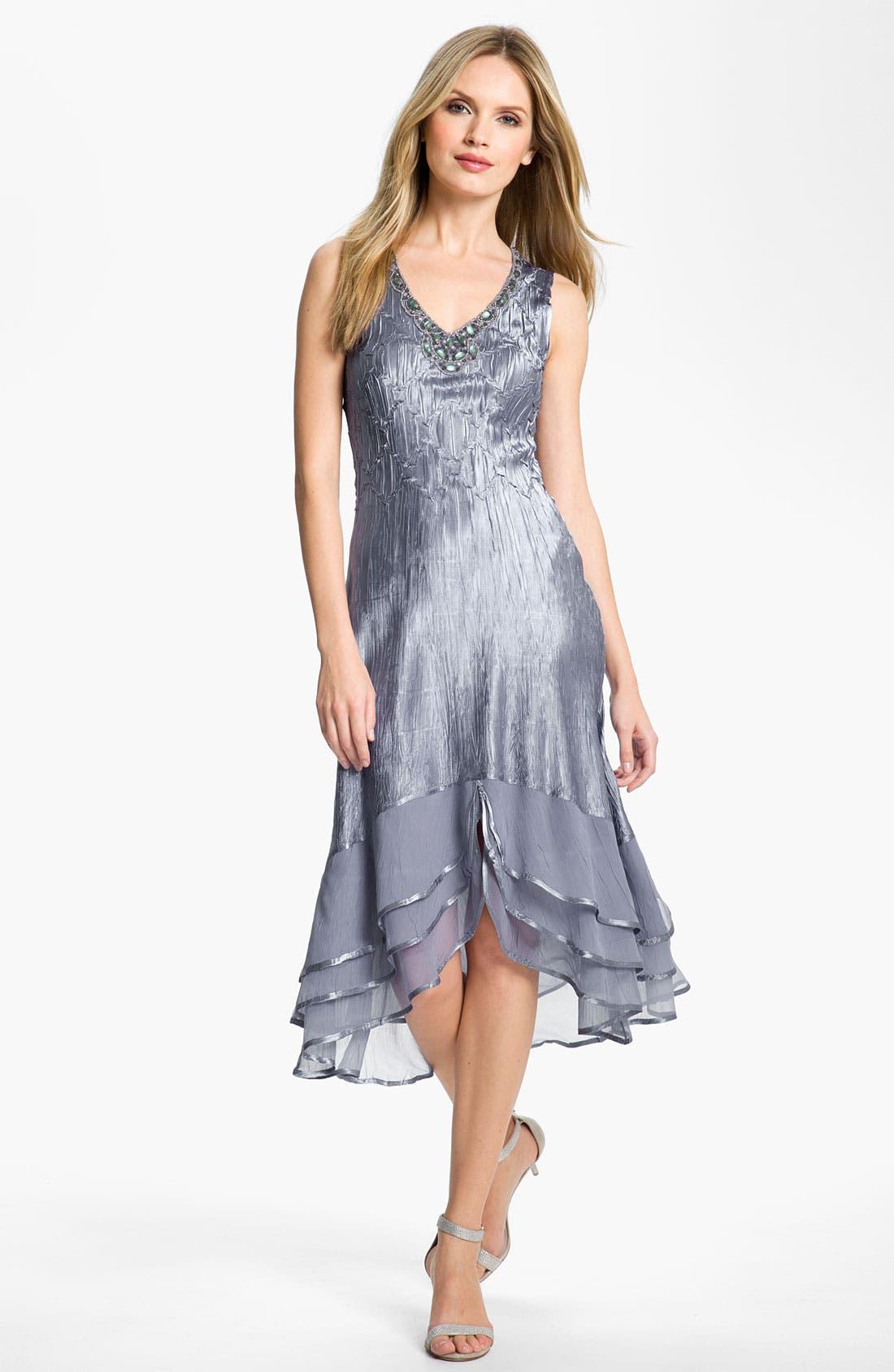 Alternate Image 2  - Komarov Split Hem Charmeuse Dress & Jacket