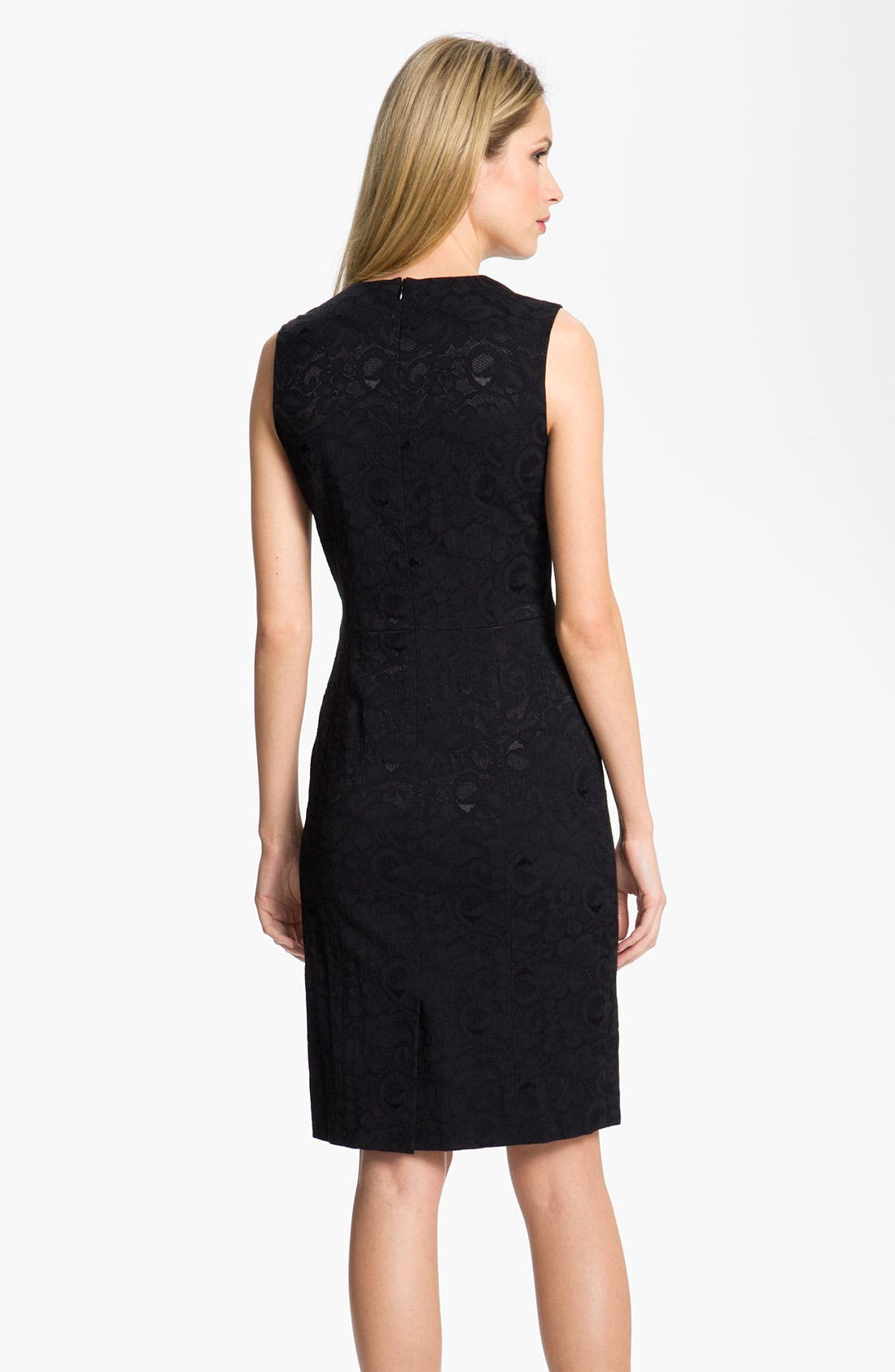 Alternate Image 2  - Louben Lace Sheath Dress