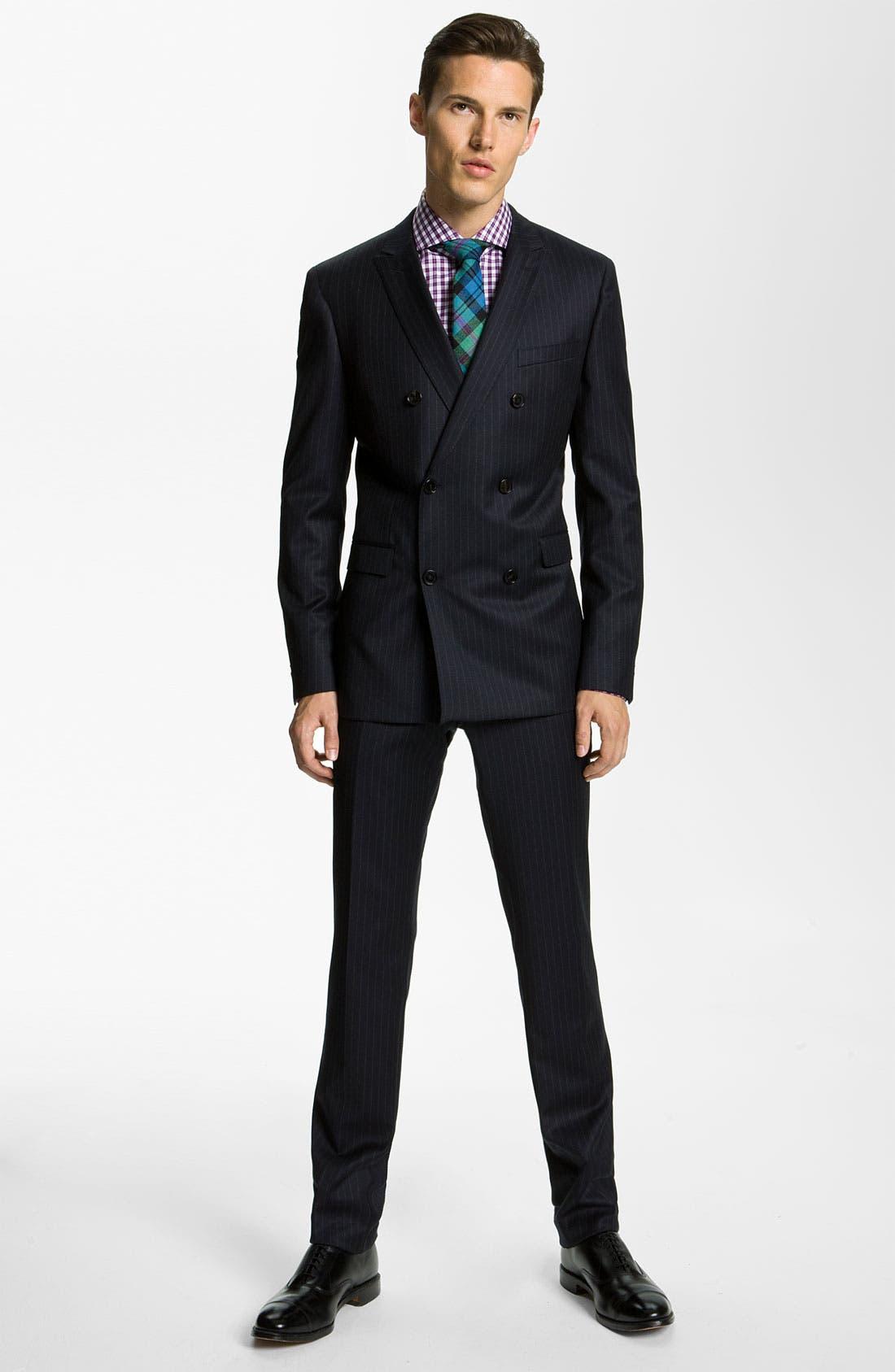 Alternate Image 2  - BOSS Black 'Rusty/Win' Stripe Suit