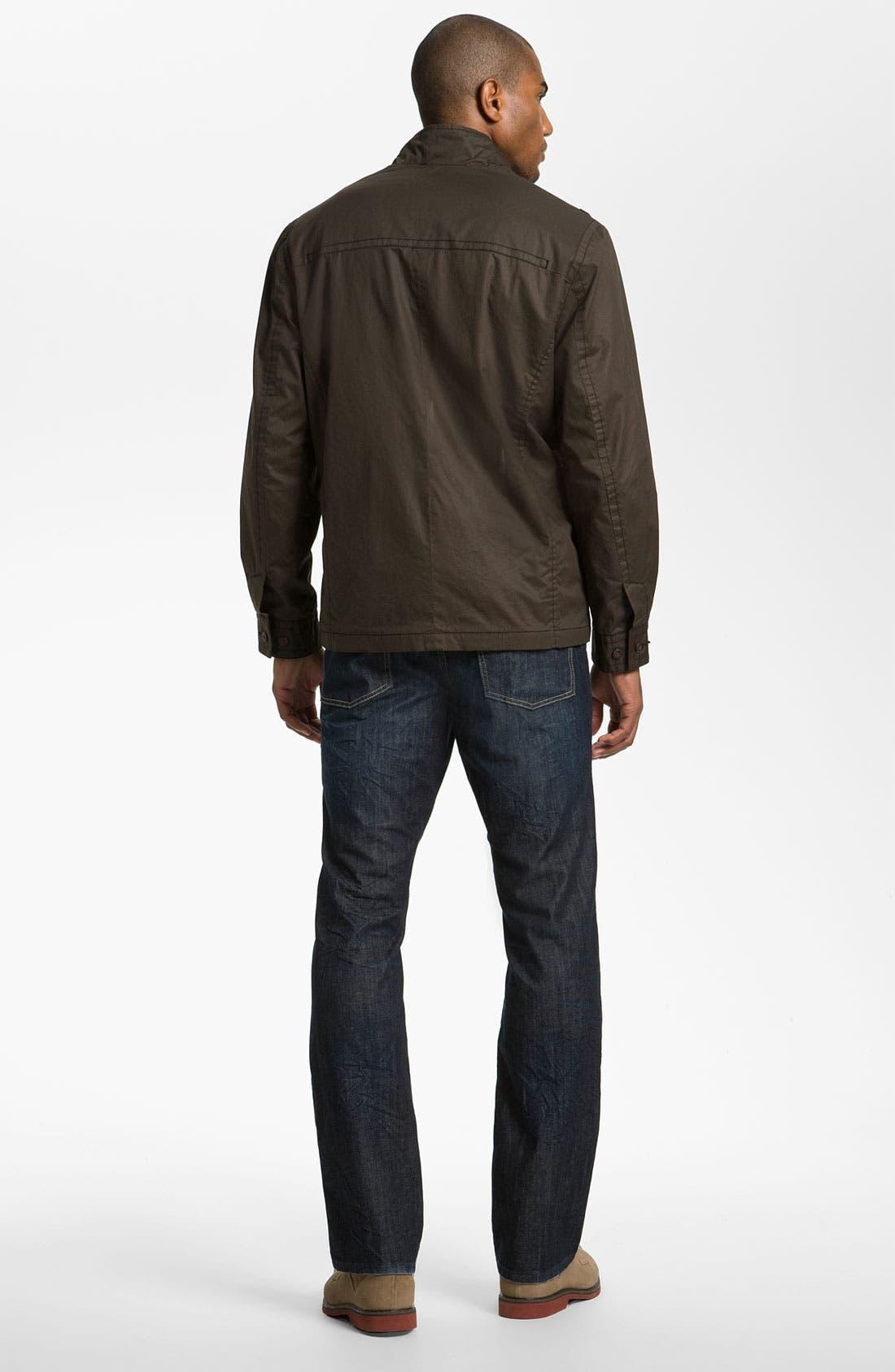 Alternate Image 6  - Tommy Bahama Denim 'Antonio' Authentic Straight Leg Jeans (Crinkle Dark)