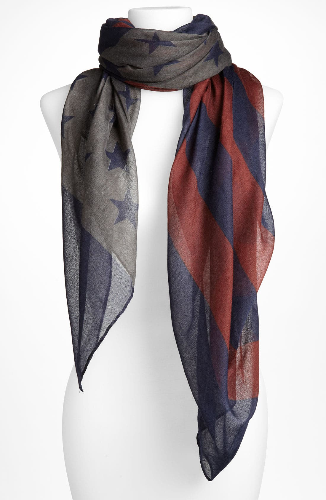 Main Image - David & Young 'Flag' Sheer Scarf