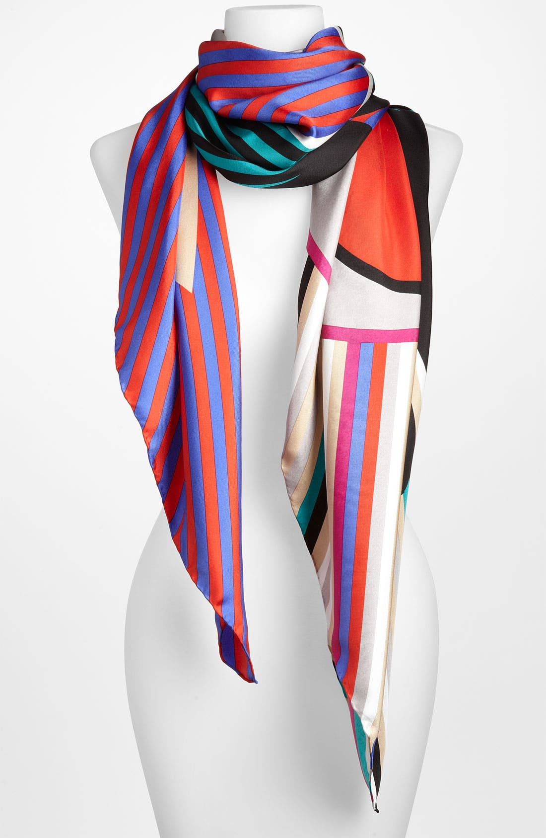 Main Image - Yarnz 'Dotted Stripes' Silk Scarf