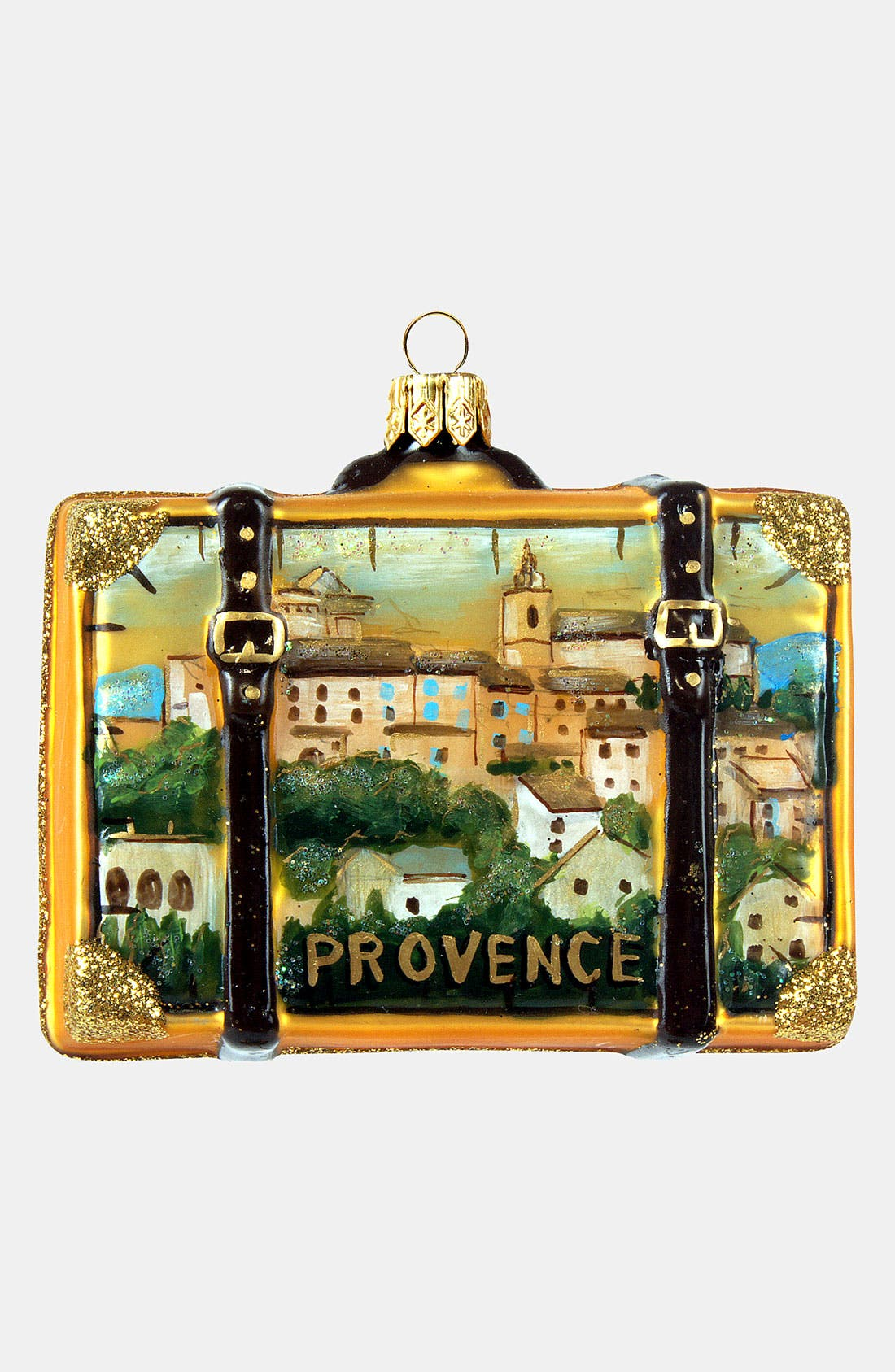Main Image - Nordstrom at Home 'Provence' Glass Suitcase Ornament
