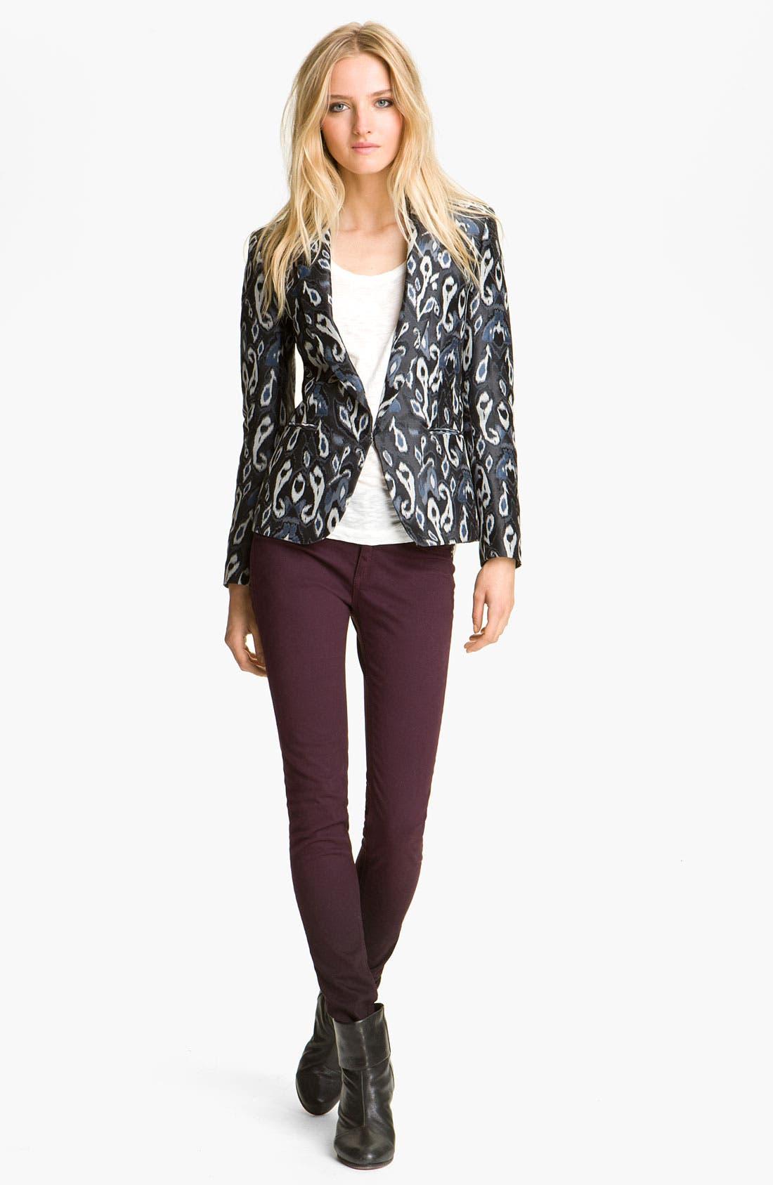 Main Image - rag & bone Ikat Print Tuxedo Jacket