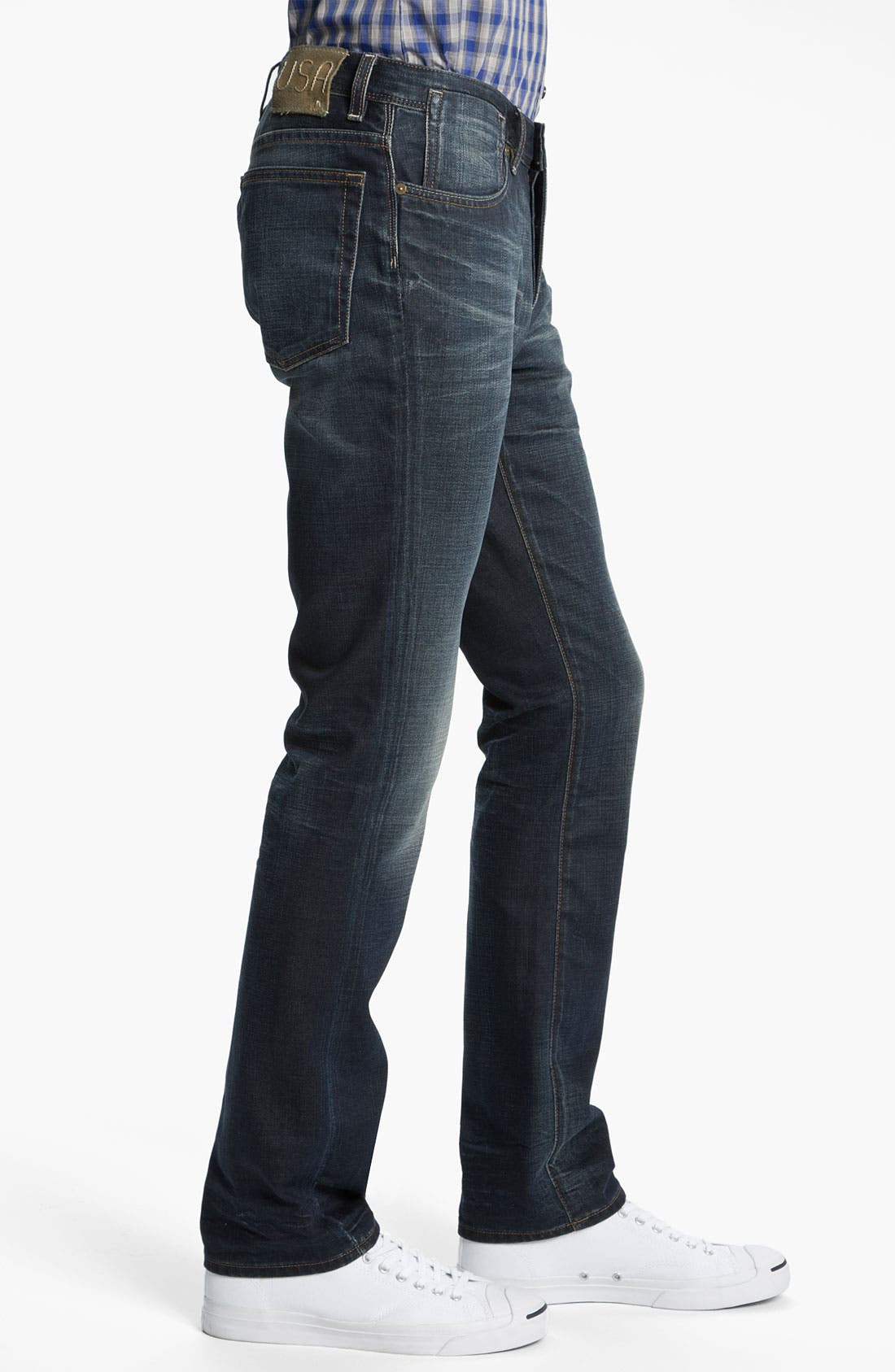 Alternate Image 3  - John Varvatos 'Bowery' Slim Straight Leg Jeans (Dark Indigo)