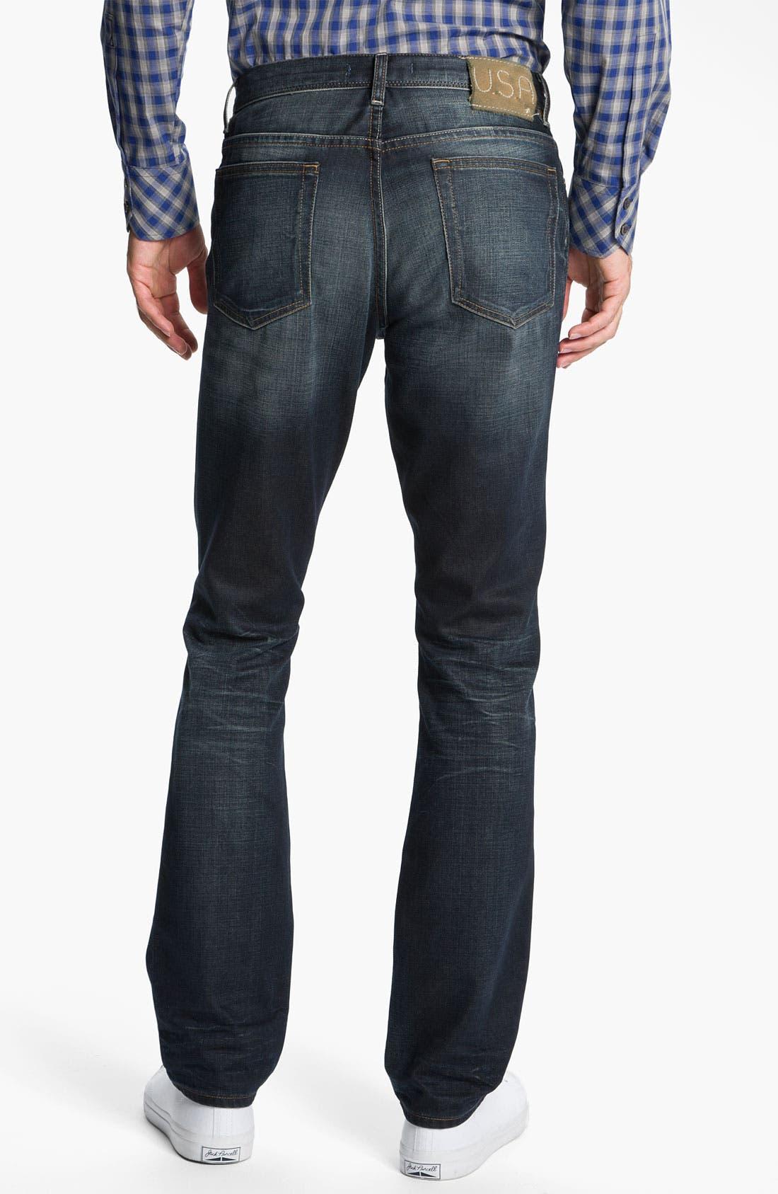 Alternate Image 2  - John Varvatos 'Bowery' Slim Straight Leg Jeans (Dark Indigo)