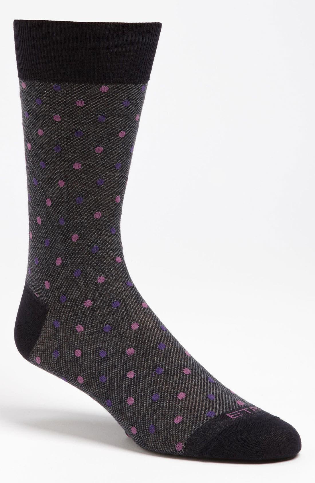 Alternate Image 1 Selected - Etro Dot Wool Blend Socks