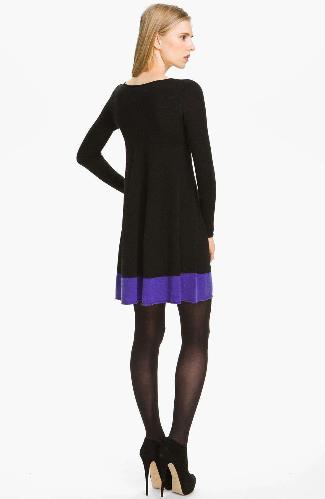 Alternate Image 2  - autumn cashmere Colorblock Flared Dress