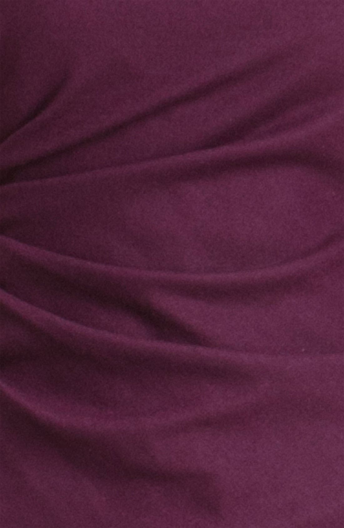 'Meily K. - Victorious' Wool Shift Dress,                             Alternate thumbnail 3, color,                             Syrah