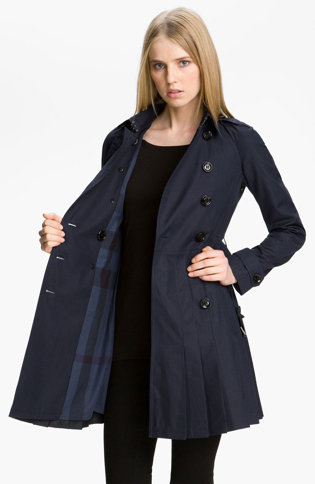 Alternate Image 3  - Burberry Brit Double Breasted Trench Coat