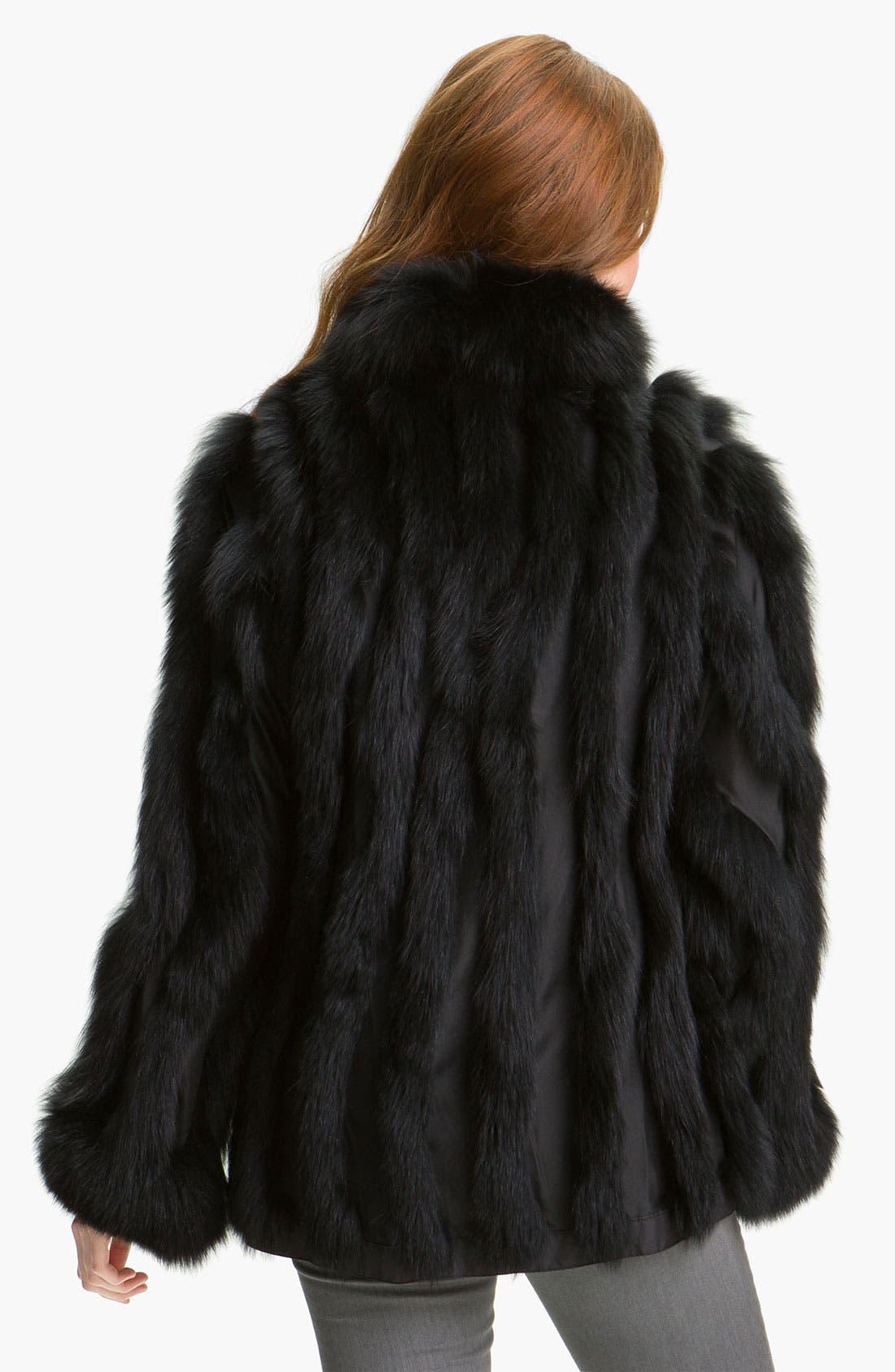 Alternate Image 3  - George Simonton Couture Reversible Genuine Fox Fur & Silk Coat