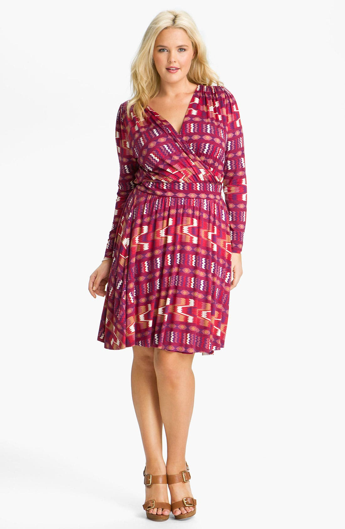 Alternate Image 1 Selected - Rachel Pally 'Rocio' Print Wrap Dress (Plus)