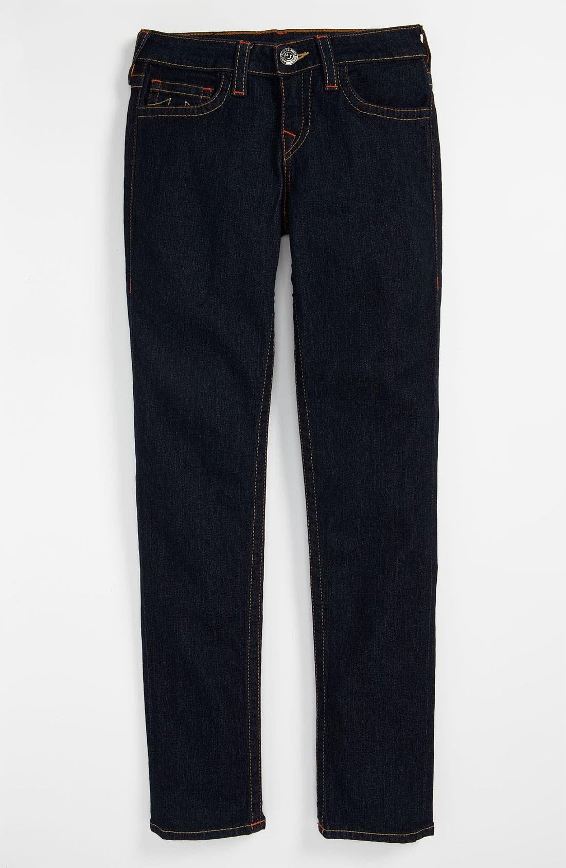 Alternate Image 2  - True Religion Brand Jeans 'Casey' Denim Leggings (Big Girls)