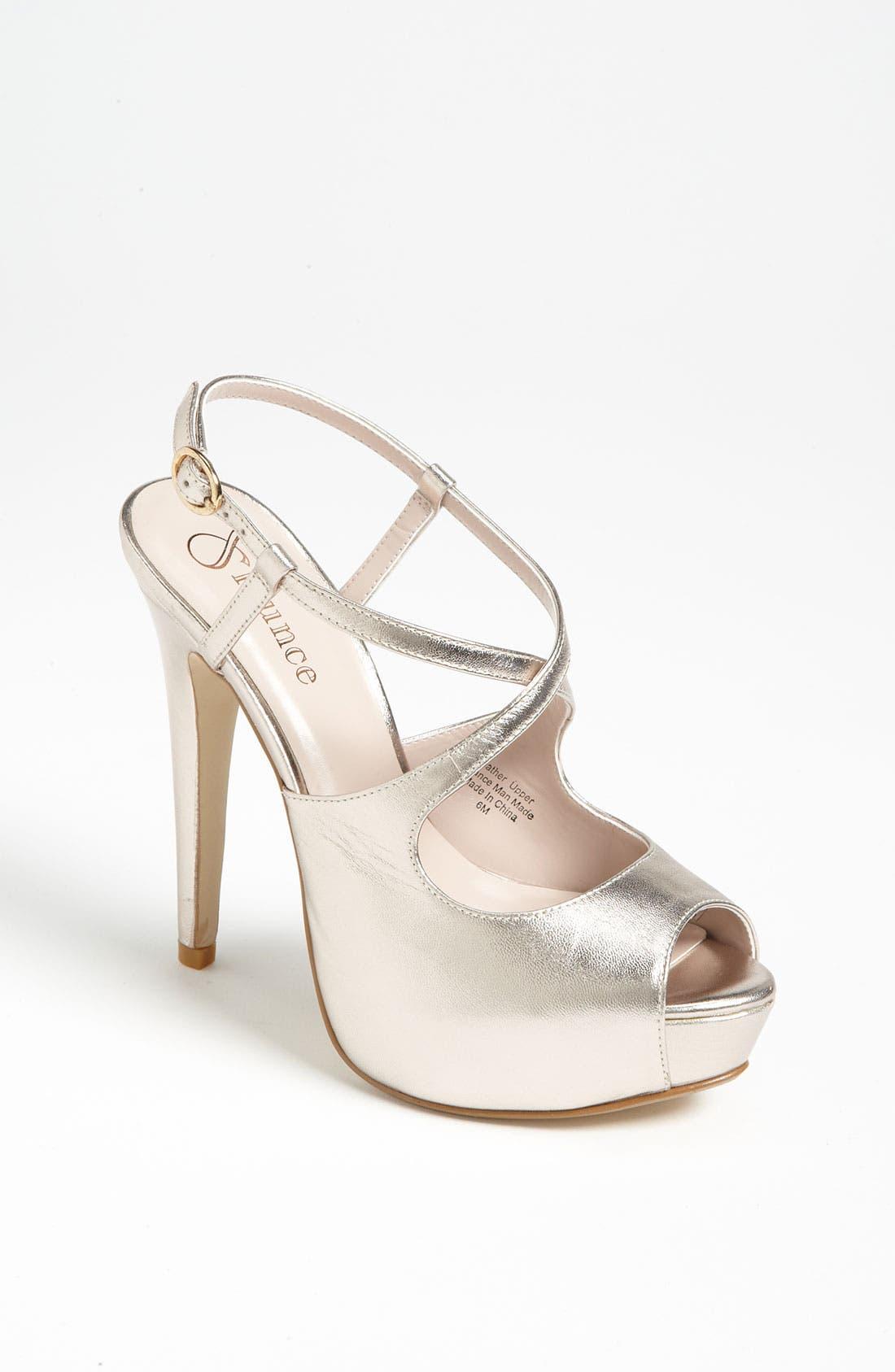 Alternate Image 1 Selected - Flounce 'Dazzle' Platform Sandal