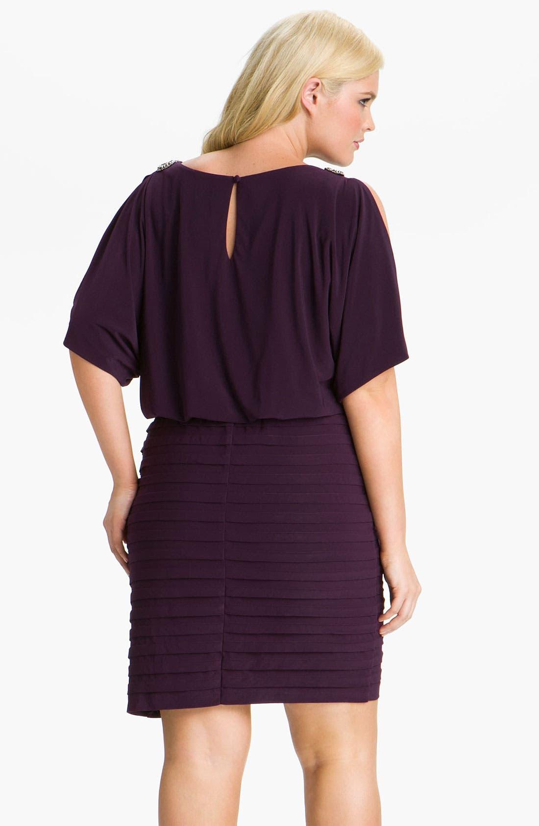 Alternate Image 2  - Xscape Embellished Matte Jersey Blouson Dress (Plus)