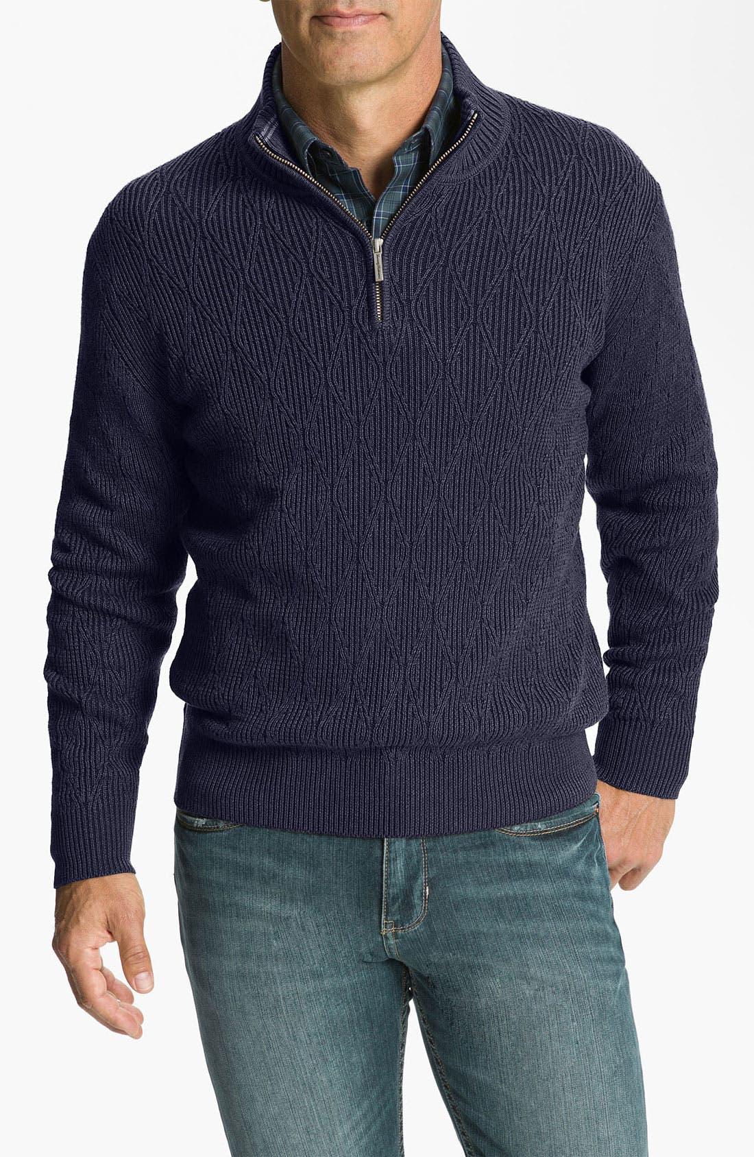 Main Image - Tommy Bahama 'Coastal Fairway' Half Zip Sweater