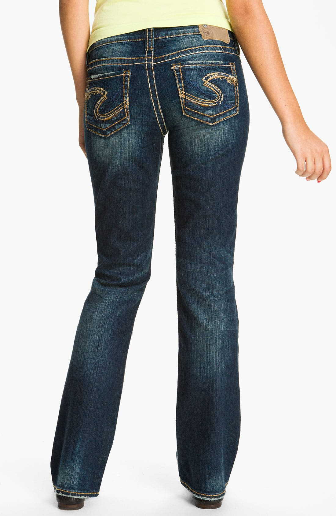 Alternate Image 2  - Silver Jeans Co. 'Lola' Bootcut Jeans (Juniors)
