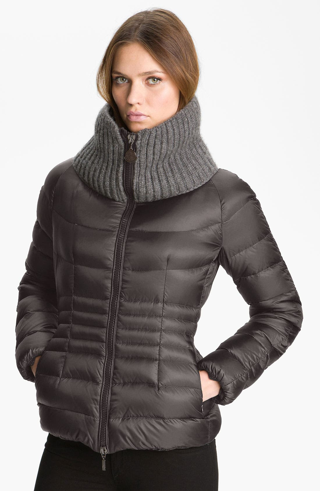 Main Image - Moncler 'Peliade' Knit Collar Down Jacket