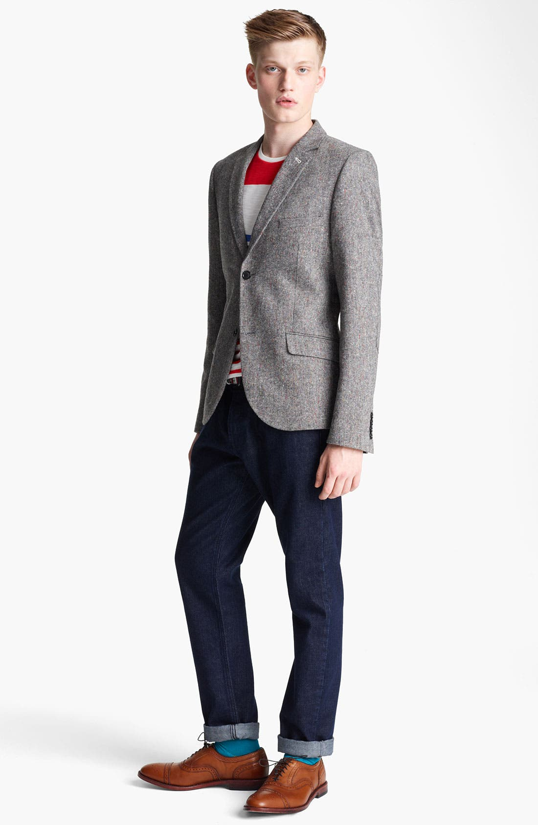 Alternate Image 4  - Topman Heritage Fit Multi Fleck Blazer