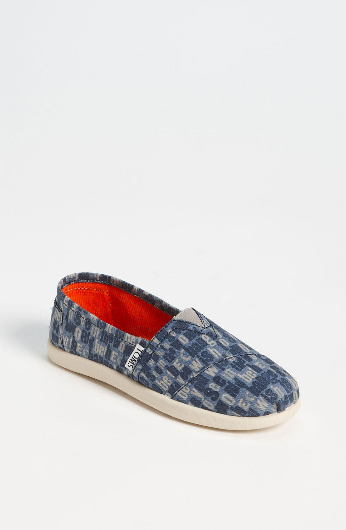 Main Image - TOMS 'Classic Youth - Ash' Slip-On (Toddler, Little Kid & Big Kid)