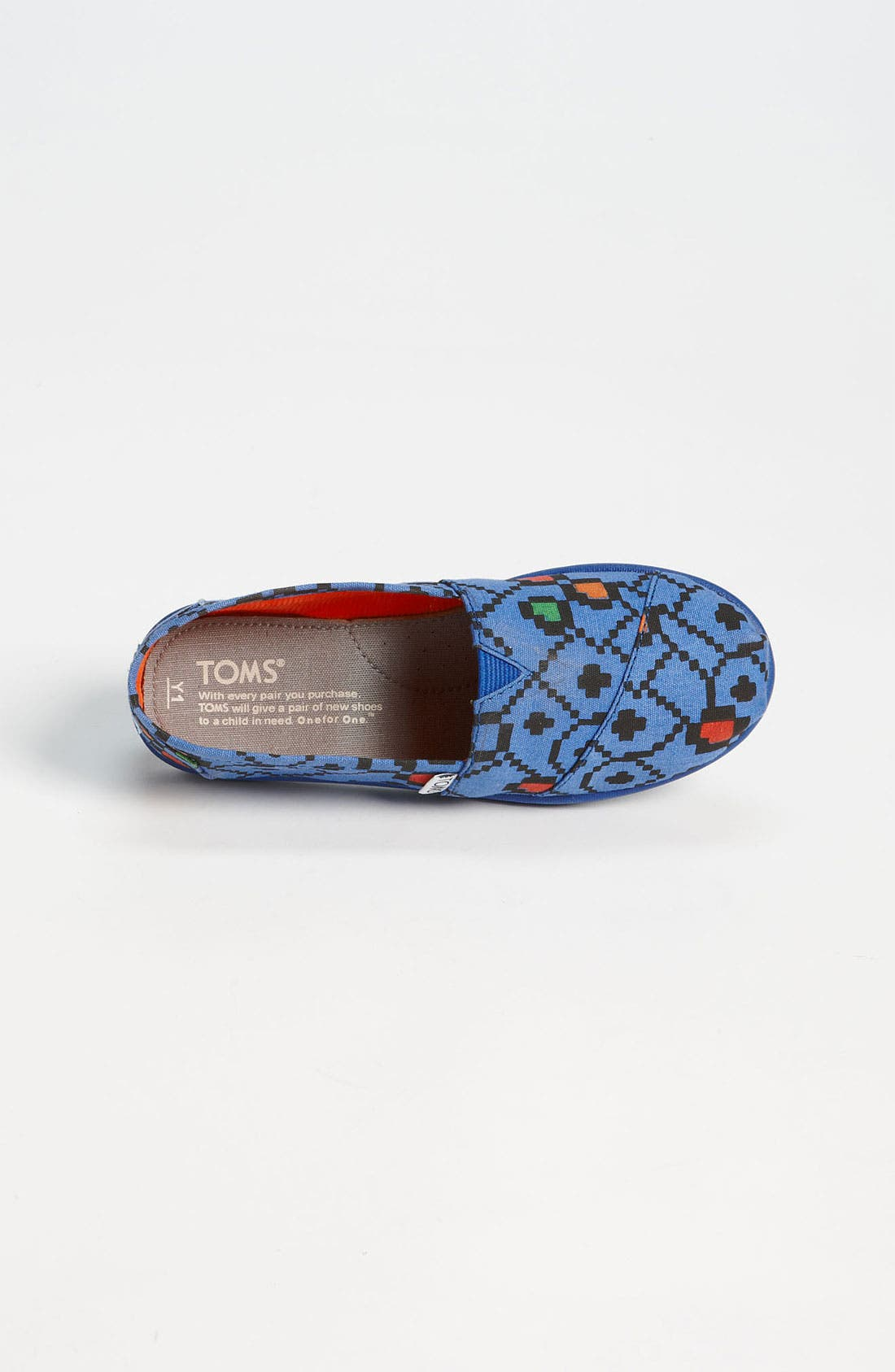 Alternate Image 3  - TOMS 'Classic Youth - Geo Squares' Slip-On (Toddler, Little Kid & Big Kid)