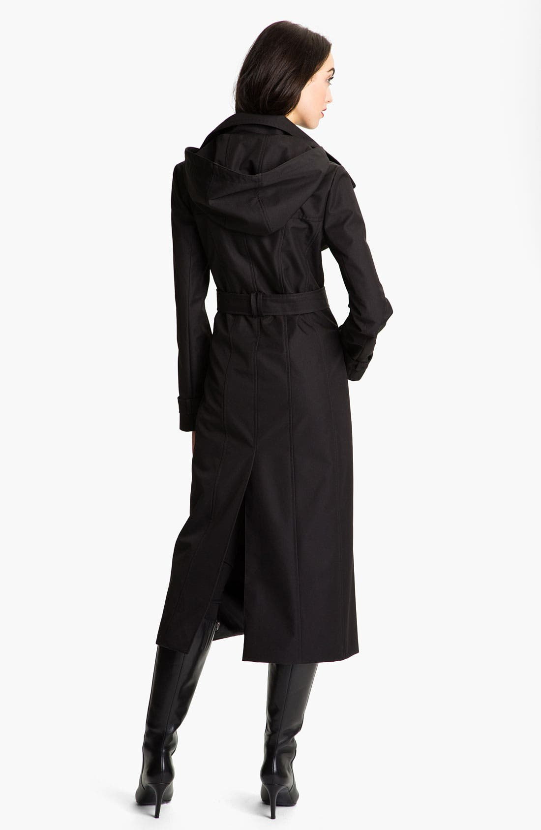 Alternate Image 2  - Ellen Tracy Long Trench with Detachable Hood