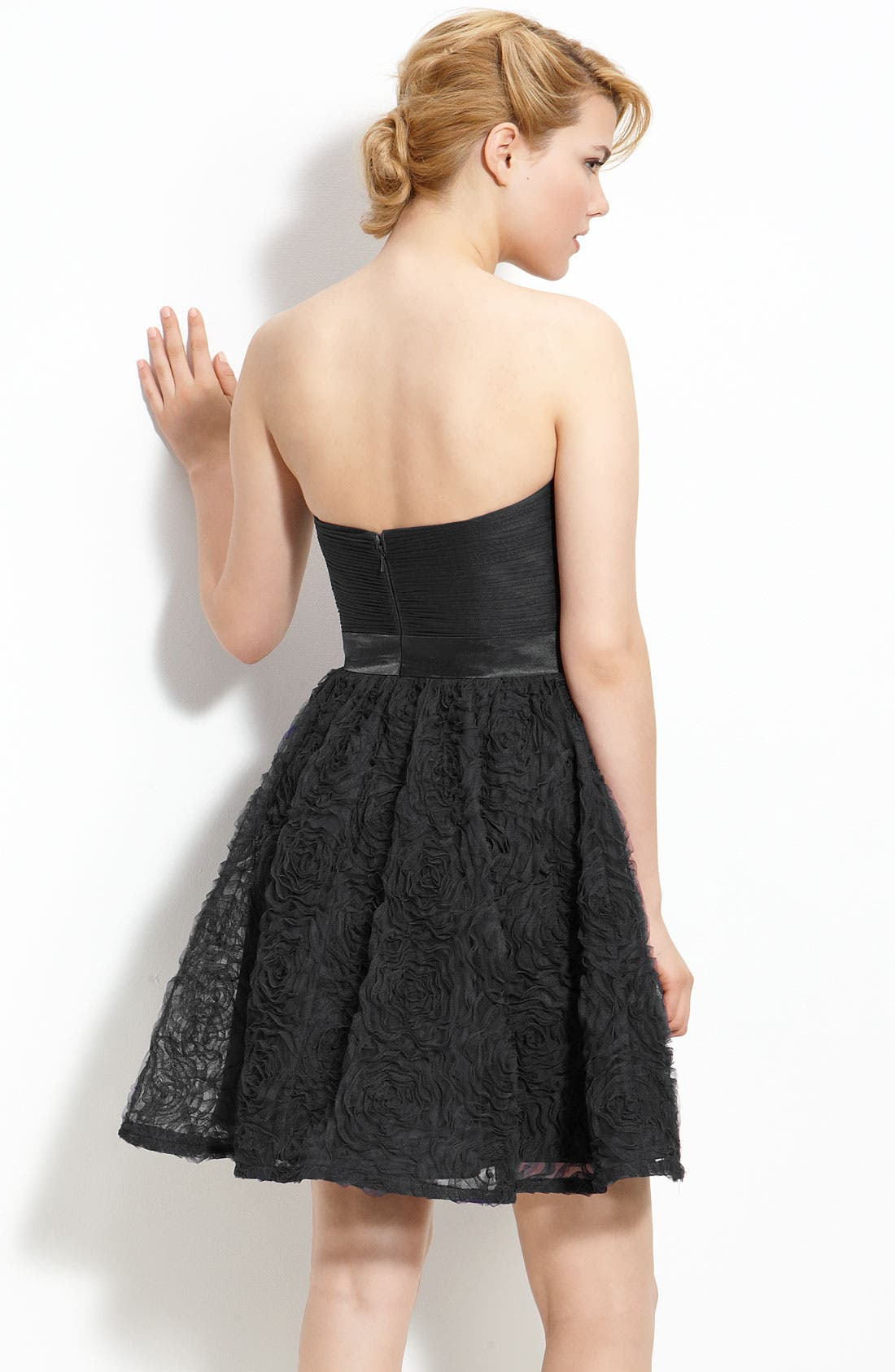 Alternate Image 2  - Adrianna Papell Strapless Tulle Dress
