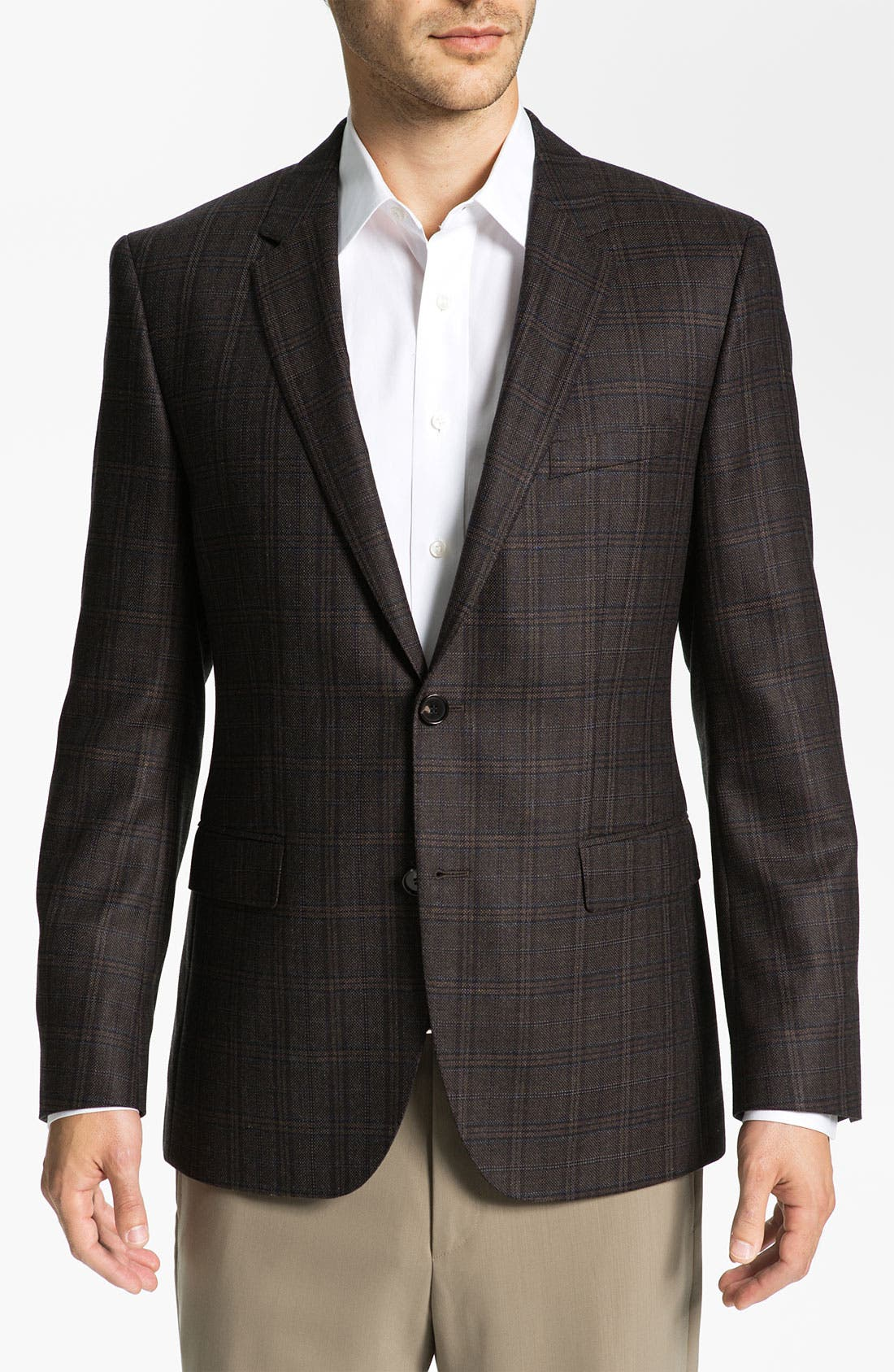 Main Image - BOSS Black 'James' Trim Fit Plaid Sportcoat