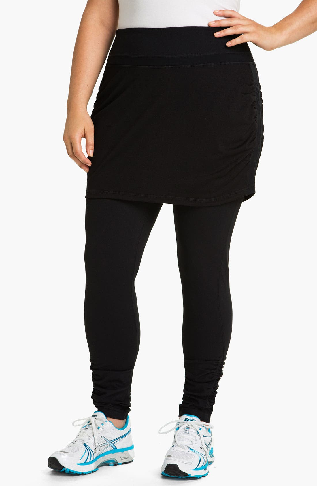 Alternate Image 1 Selected - Zella 'Work It' Skirted Leggings (Plus)