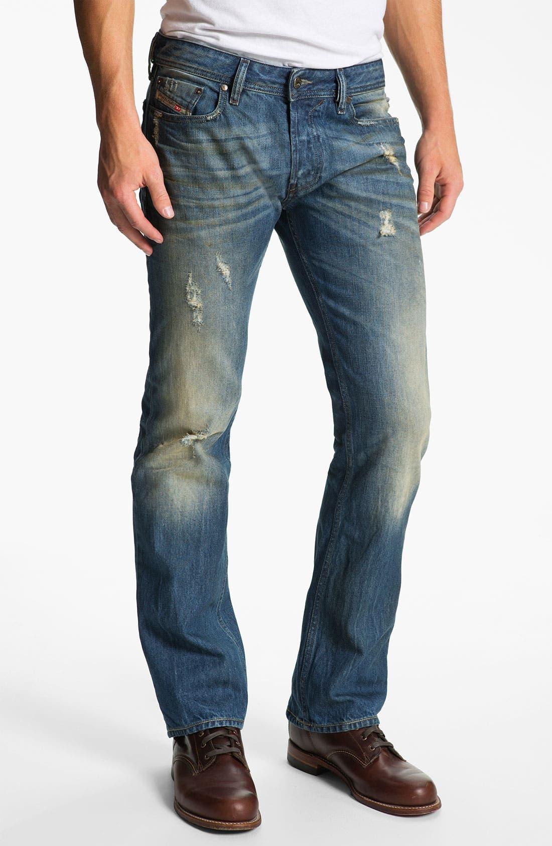 Alternate Image 2  - DIESEL® 'New Fanker' Slim Bootcut Jeans (0075I)