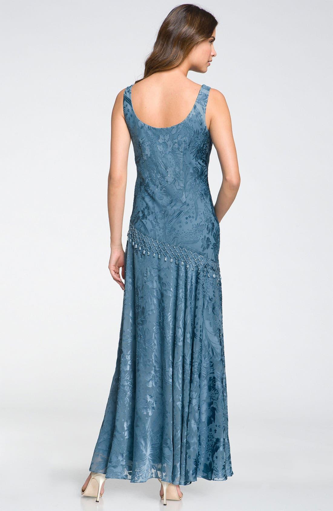 Alternate Image 2  - Alex Evenings Sequin Lace Overlay Dress & Shawl (Petite)
