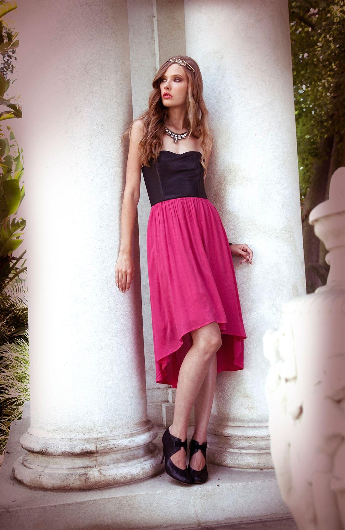 Alternate Image 4  - Ella Moss 'Roslyn' Colorblock Strapless Dress