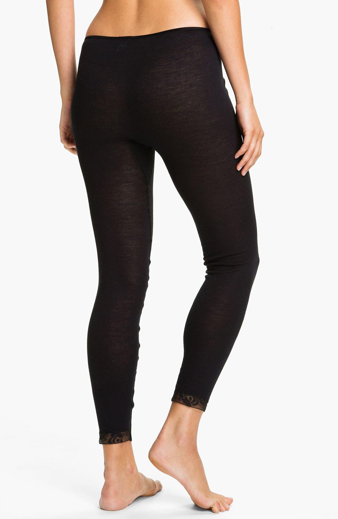 Alternate Image 2  - Hanro 'Woolen Lace' Leggings