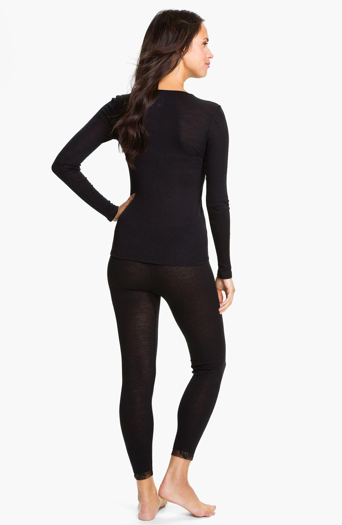 Alternate Image 5  - Hanro 'Woolen Lace' Leggings