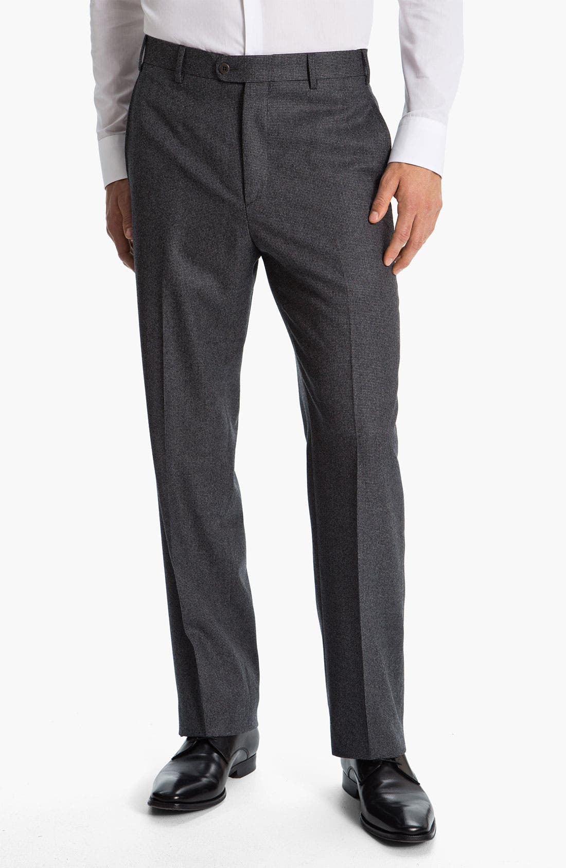 Main Image - Zanella 'Todd' Flat Front Trousers