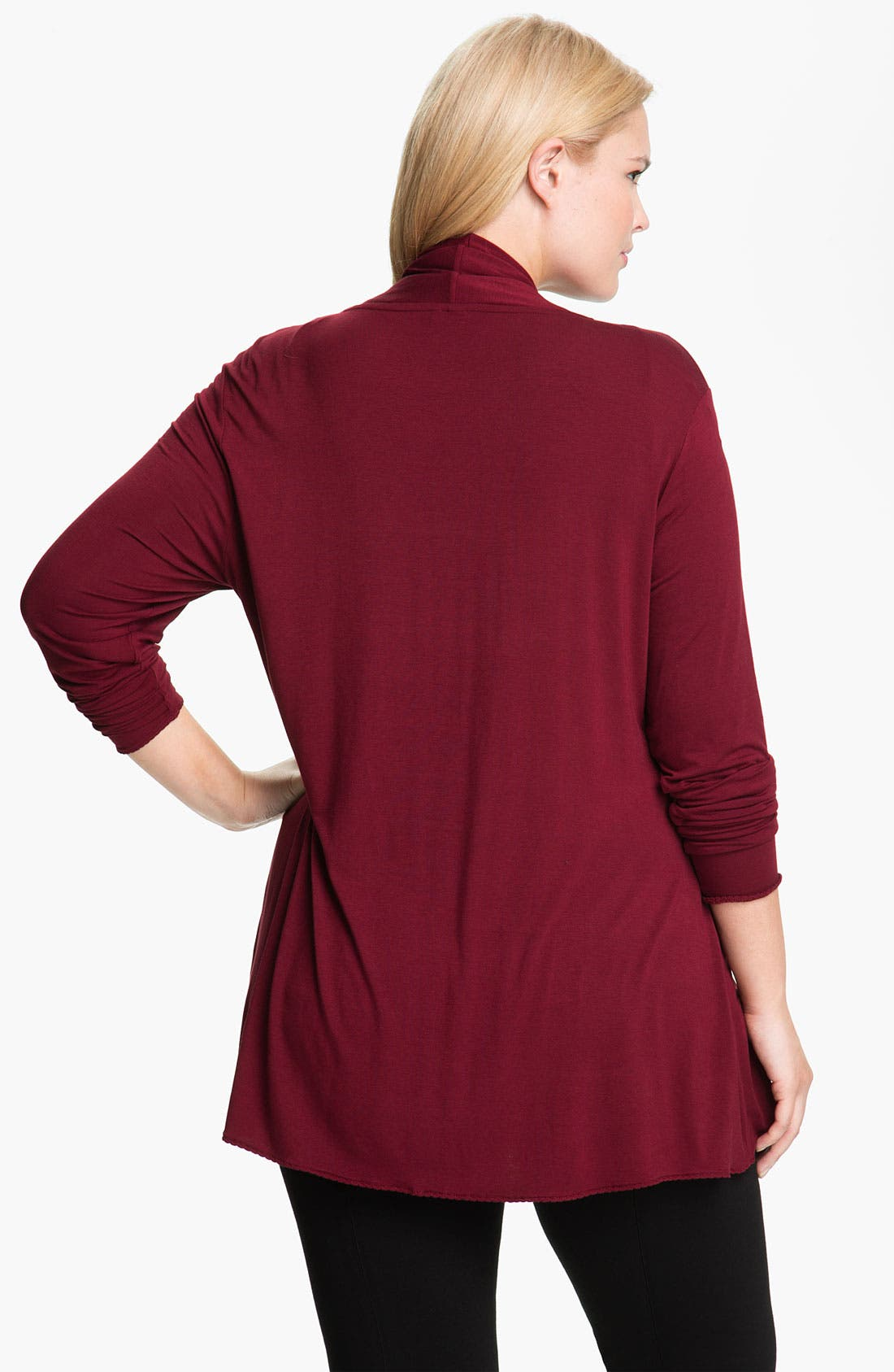 Alternate Image 2  - Kische Open Front Cardigan (Plus Size)