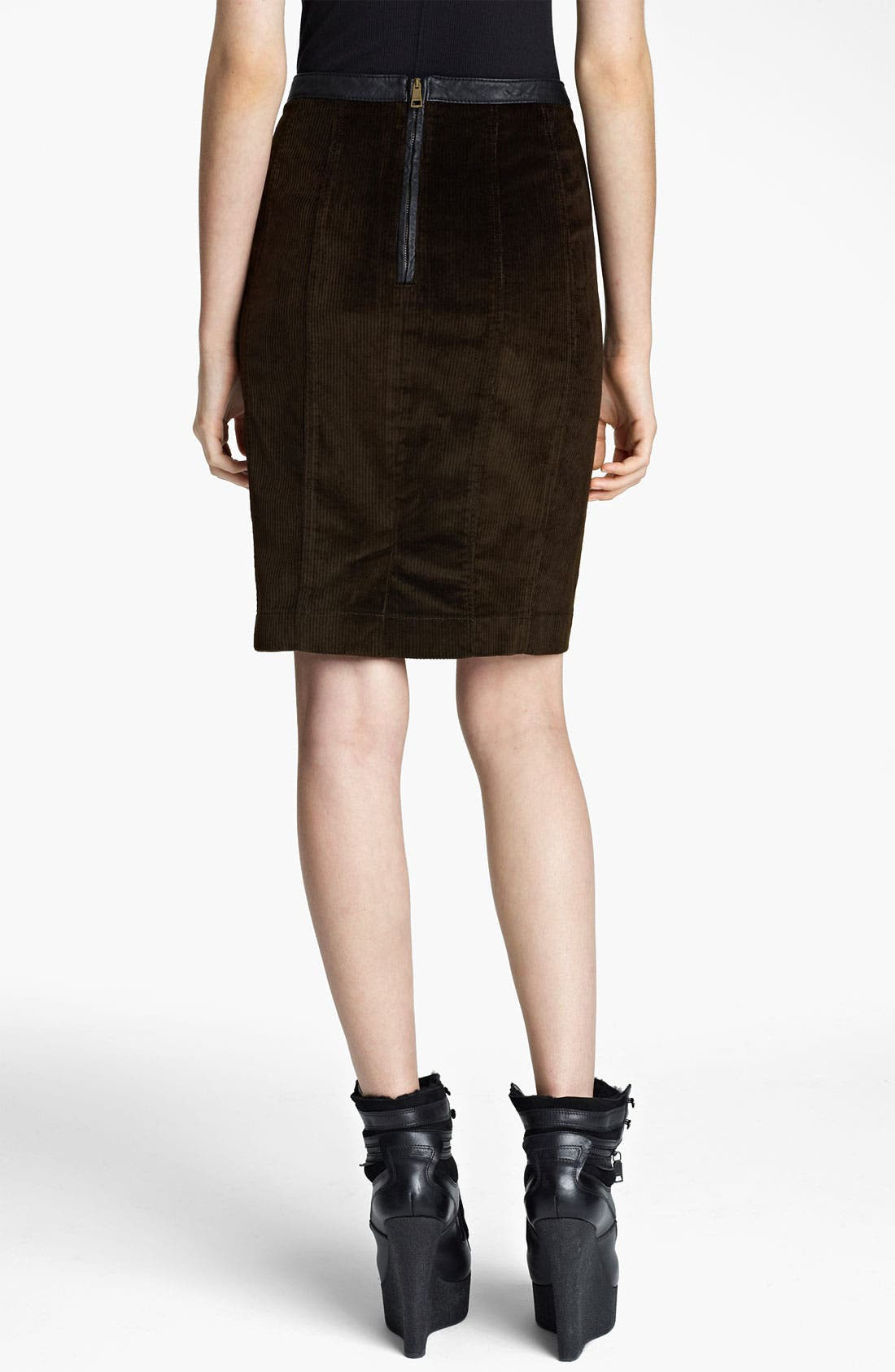 Alternate Image 2  - Burberry Brit Corduroy Pencil Skirt