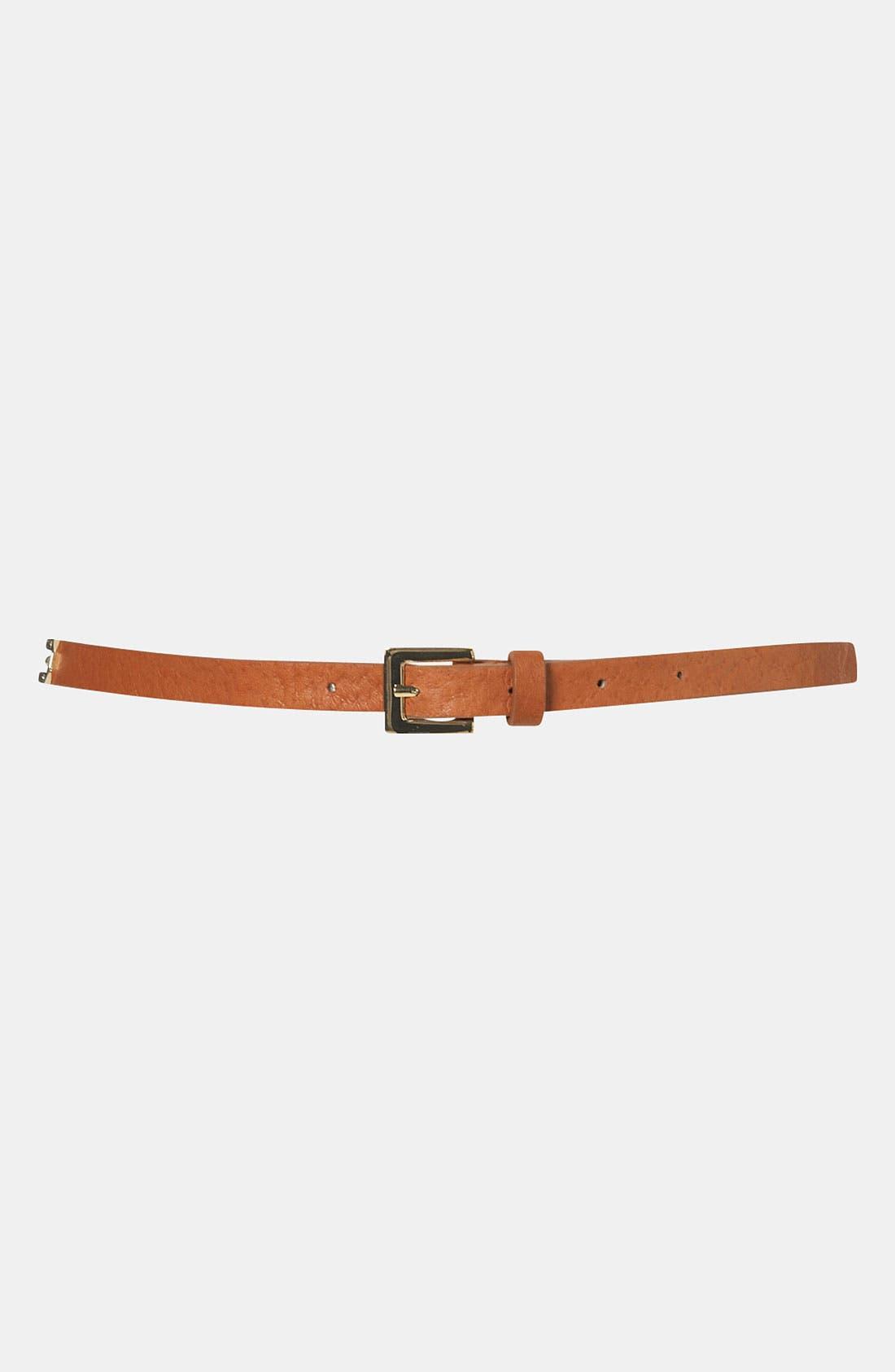Main Image - Topshop 'Snaffle' Skinny Belt