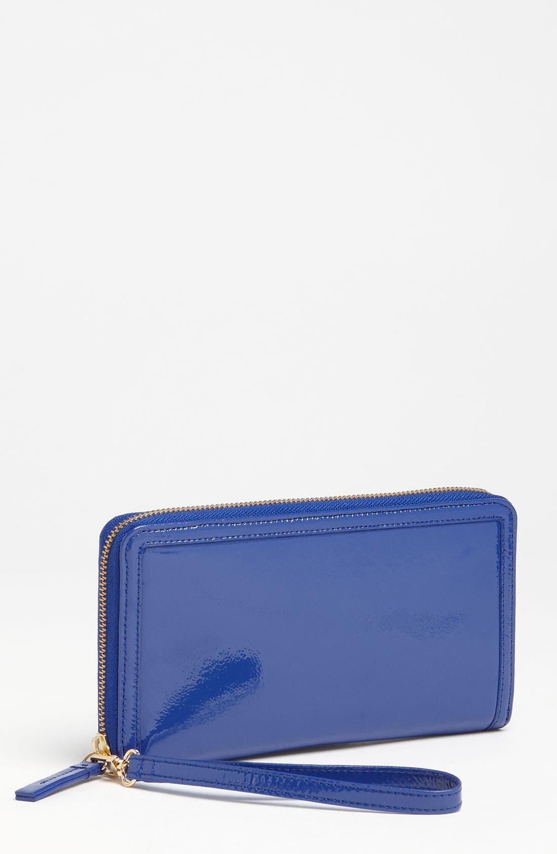Main Image - Halogen® Zip Around Leather Travel Wallet